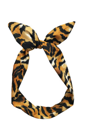 Wild Thing Wired Headband in Tiger Print by LULU IN THE SKY
