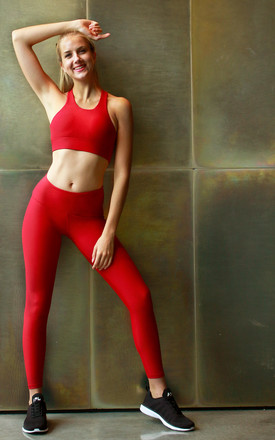 Pulse Sports Bra In Tango Red by Skimmed Milk Product photo