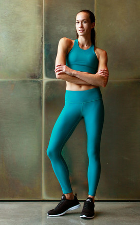 Go To Leggings In Teal by Skimmed Milk Product photo