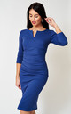 The Cecile French Navy 3/4 sleeve midi dress by Off the Catwalk