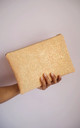Glitter Clutch Bag in Peach / Nude by Suki Sabur Designs