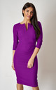 The Harper Purple 3/4 sleeve midi dress by Off the Catwalk