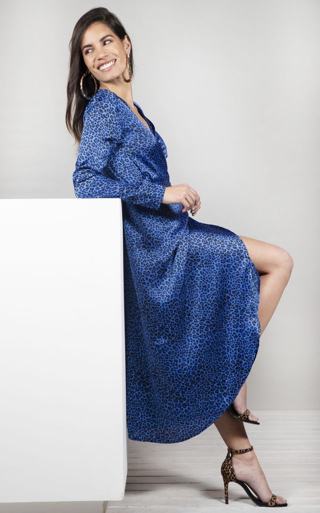 YONDAL DRESS IN BLUE DITSY image