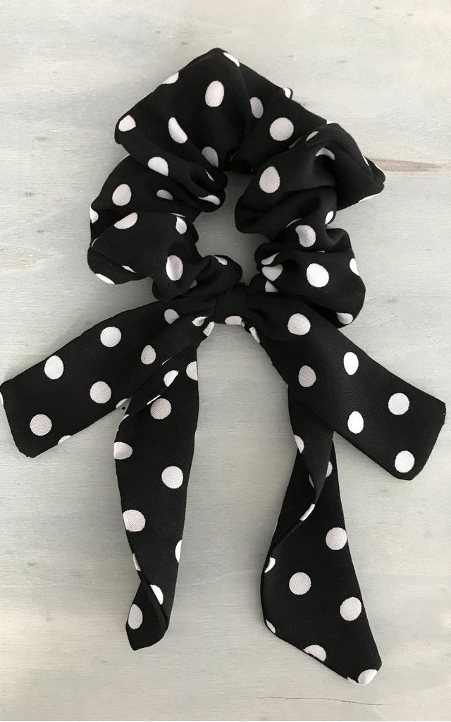 Polka Dot Hair Scrunchie Tie Detail by LULU IN THE SKY
