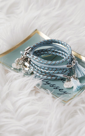 Pale Sea Blue Tassel Bracelet by A Gift From The Gods