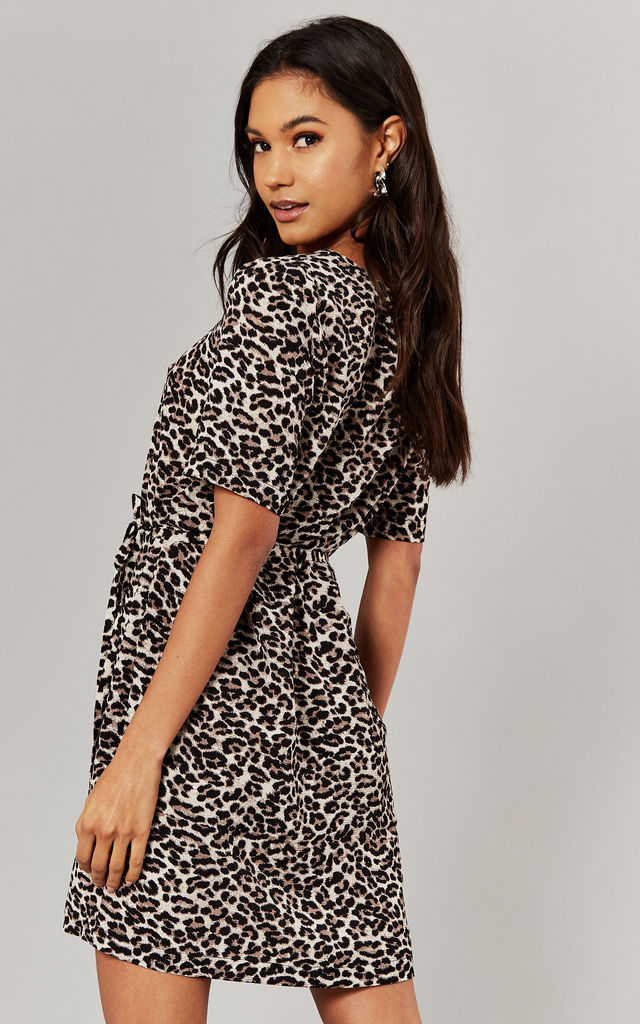 Short Sleeve Mini Dress in Leopard by ONLY