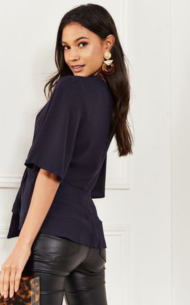 Navy Kimono Knot Top by Bella and Blue