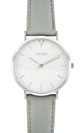 THE MYKONOS WATCH with GREY LEATHER STRAP by Verdier
