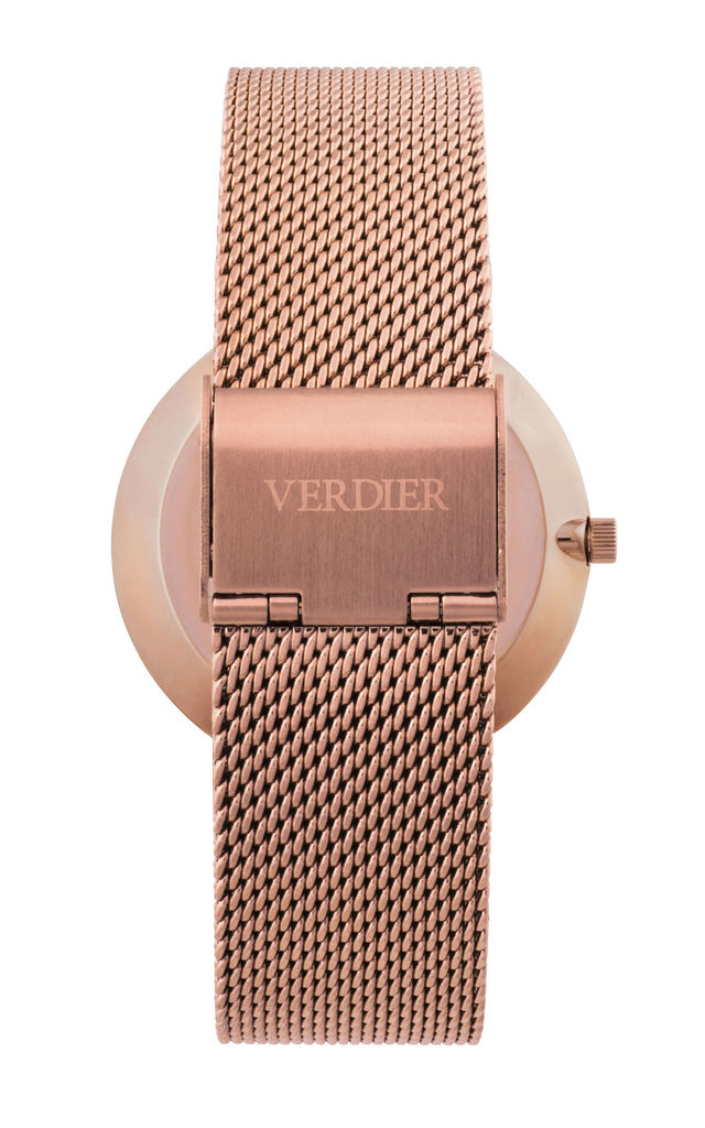 THE VALLETTA WATCH with ROSE GOLD STRAP by Verdier
