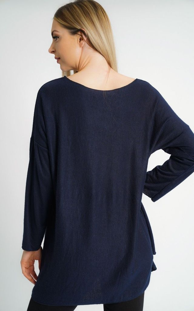 OVERSIZED NAVY ULTRA SOFT LONG SLEEVE CARDIGAN by Aftershock London