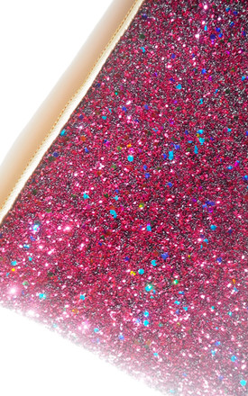 Glitter Clutch Bag in Berry Pink by Suki Sabur Designs