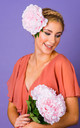 Luna Oversized Peony Hair Corsage in Mimi Pink by Crown and Glory