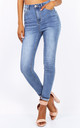 High Waisted Skinny Jeans in Light Blue by Free Spirits