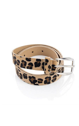 Leopard Print Belt by LULU IN THE SKY