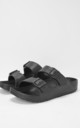 Watson Slider Flat Sandals in Black by Slydes Footwear