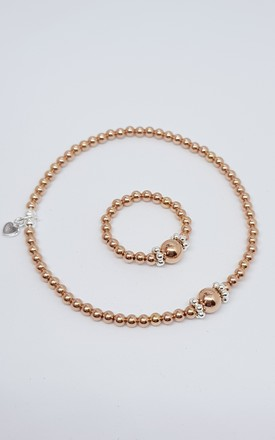 Rose Gold and Silver Bracelet and Ring Set by Kelly England Handmade Jewellery