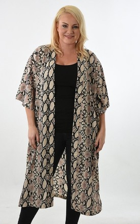 Long Kimono in Snake Animal Print by Soul Warriors
