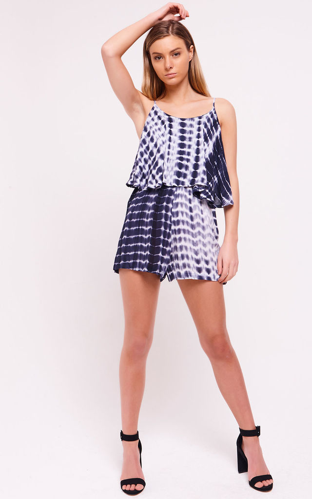 Tie Dye Jersey Playsuit Blue by Saint Genies