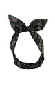 Black and Red Paisley Print Wired Headband by LULU IN THE SKY