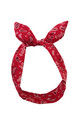 Red and Black Paisley Print Wired Headband by LULU IN THE SKY