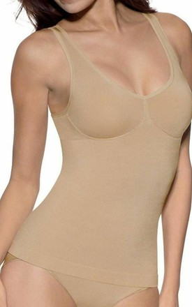 Seamless Control Vest Top in Nude by BB Lingerie