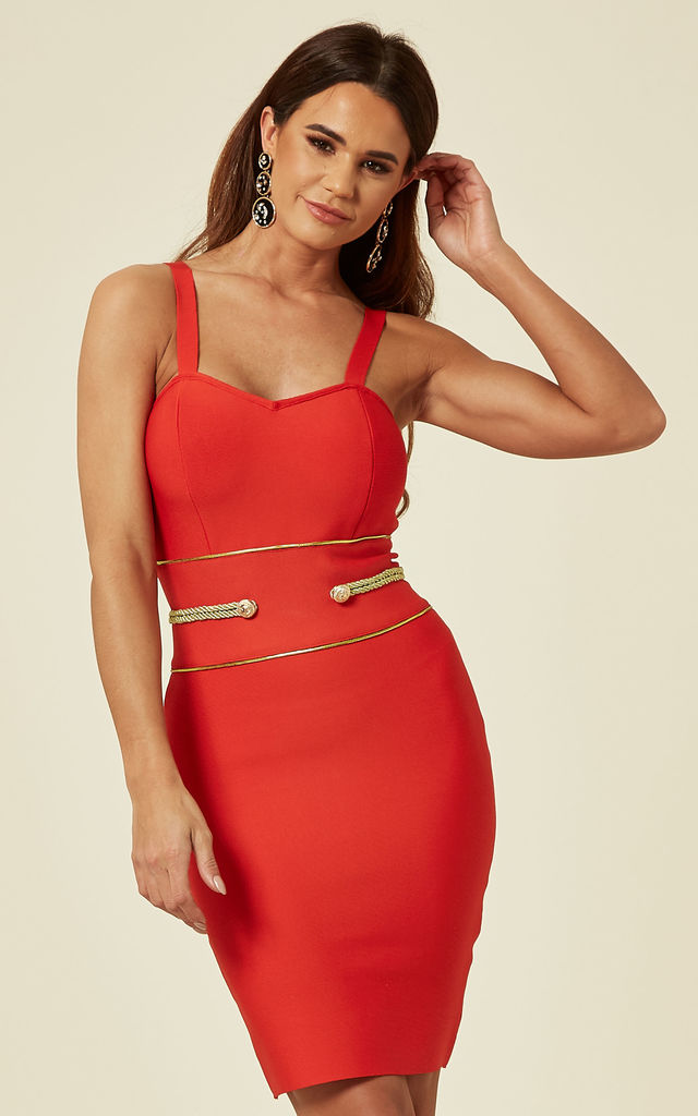 Red bodycon mini dress by My Bandage Dress