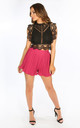 Fuchsia Pleated Shorts by Dressed In Lucy