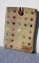 Wool iPad case in Lime and Multicolour Polka Dot by Hettie