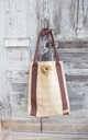 Hettie Tote bag in slate and oatmeal check print by Hettie