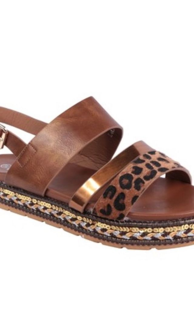 Brown Kyla Sandals by Want That Trend
