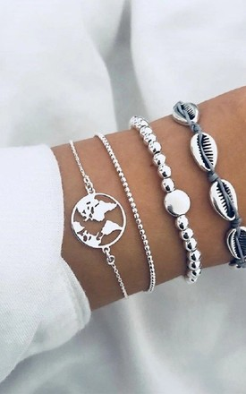 Around the world bracelet set in Silver by The Lustre Company