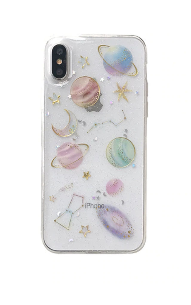 Mila Moon & Stars Space Phone Case Cover by Ajouter Store