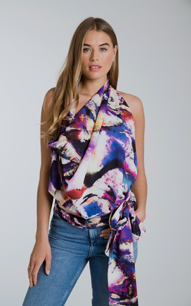 Lucy drape Top Amethyst Elephant by Rebecca Rhoades