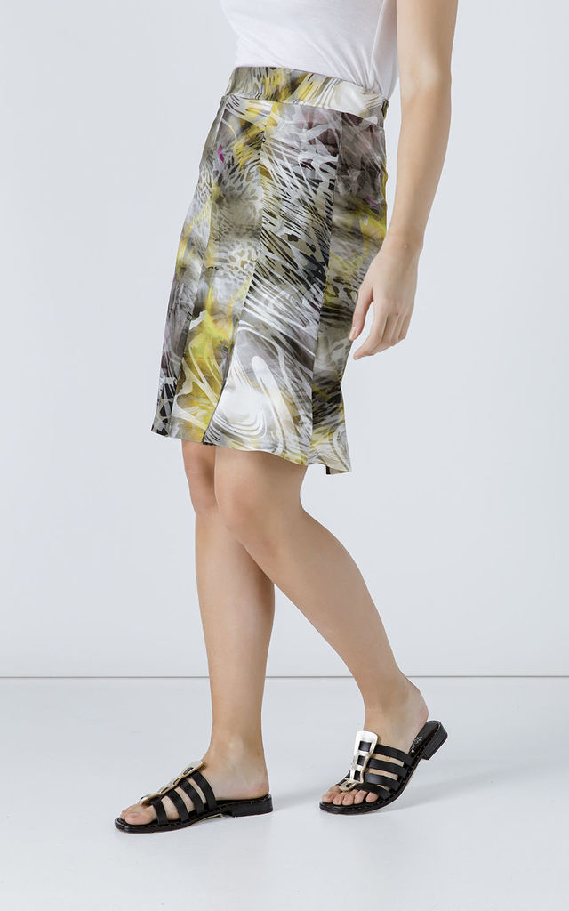 Animal Print Cloche Skirt by Conquista Fashion