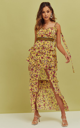 Maison Maxi Dress In Yellow Floral by For Love And Lemons Product photo