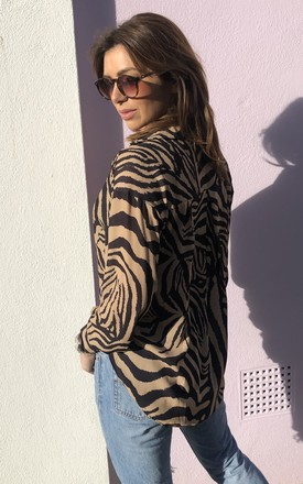 YOKO SHIRT in Gold Zebra by Libby Loves