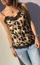 ATHENA CAMISOLE in Gold Leopard by Libby Loves
