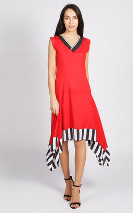 Allegra V Neck Dress In Red by LAGOM Product photo