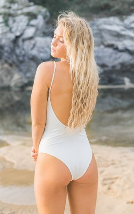 Utopia One Piece Swimsuit in white by Mimpi Swimwear