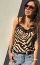 ATHENA CAMISOLE in Gold Zebra by Libby Loves