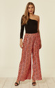 Pleated Wide Leg Neon Pink Trousers by Liquorish