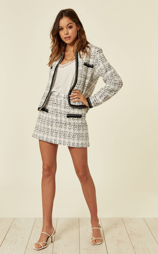 Luxury Tweed Jacket and Mini Skirt Co-ordinate by Lucy Sparks
