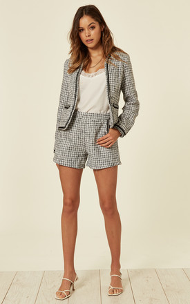 Luxury Tweed Jacket And Shorts Co Ordinate - BW Variation by Lucy Sparks