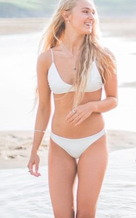 Odyssey Bikini Bottoms In White by Mimpi Swimwear Product photo