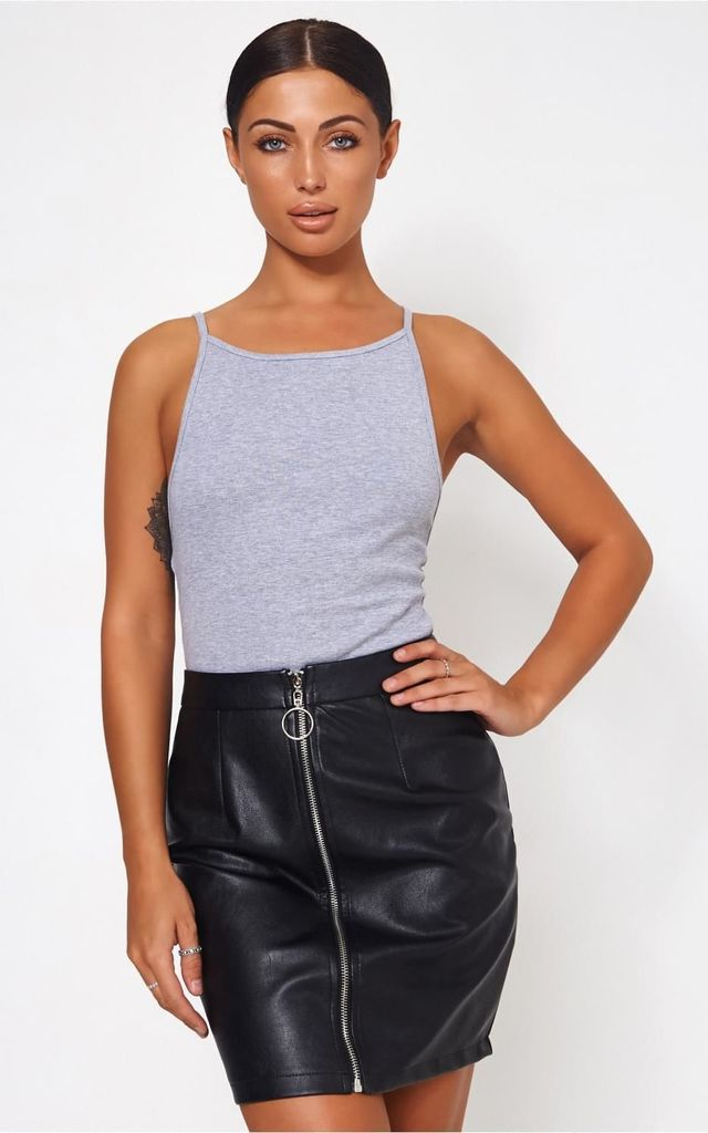 LARSON GREY JERSEY BODYSUIT by The Fashion Bible