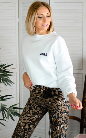 Embroidered Mrs Sweatshirt - White by Rock On Ruby