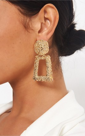 Geo Gold Statement Earrings by The Fashion Bible Product photo