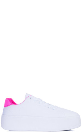 A-OK Lace Up Trainers in Pink by SpyLoveBuy