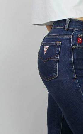 Vintage Guess Skinny Jeans with Logo Back & Front by Re:dream Vintage