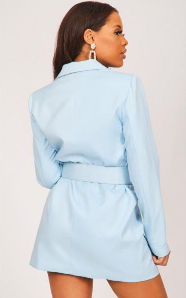 Blue Double Breasted Blazer Dress by Hachu